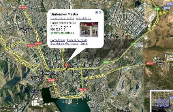 d568dfe9873 O bien, mediante el servicio de Google Maps en el que podrá interactuar con  el mapa: Uniformes Mastia ...
